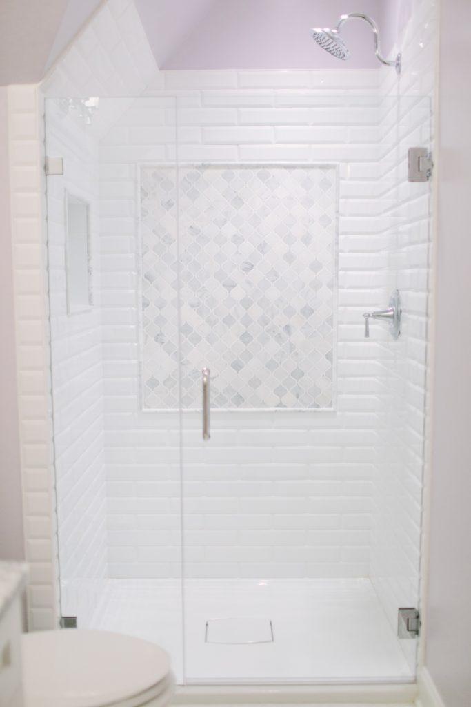 modern tile shower