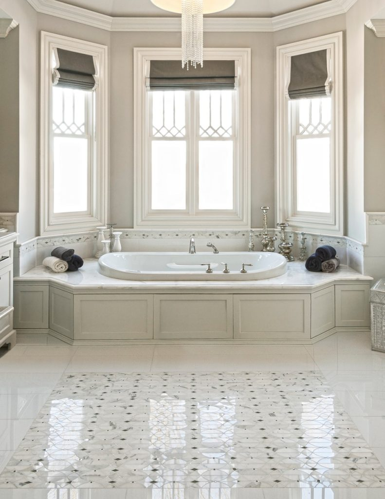 artistic tile bathroom