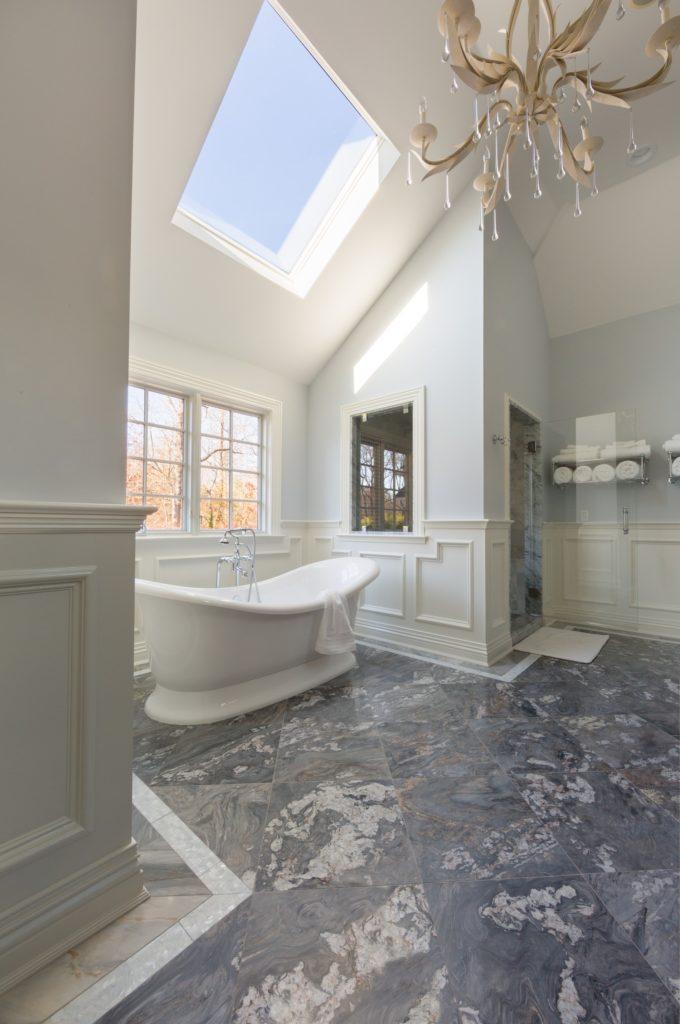 natural stone bathroom flooring
