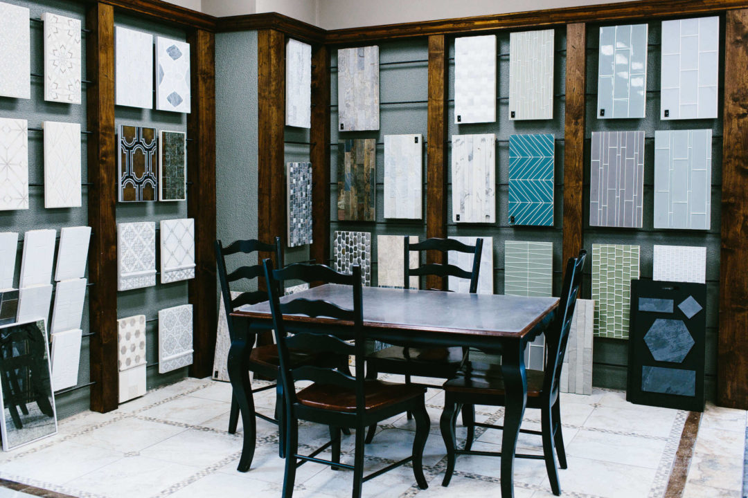 Showroom of custom tiles